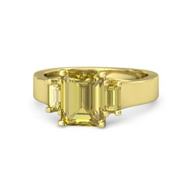 Emerald-Cut Yellow Sapphire 14K Yellow Gold Ring with Yellow Sapphire