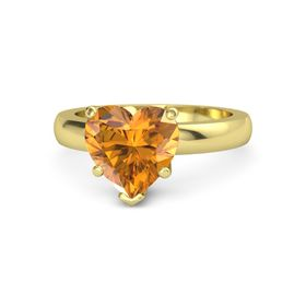 Heart Citrine 14K Yellow Gold Ring