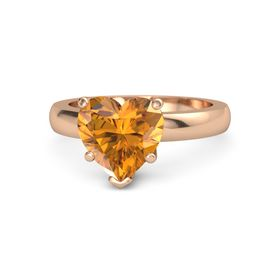Heart Citrine 18K Rose Gold Ring