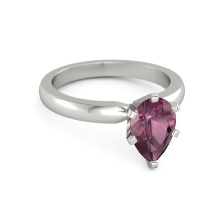 Pear Solitaire Ring