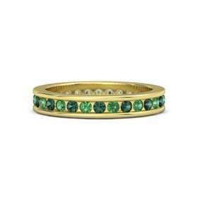 14K Yellow Gold Ring with Emerald & Alexandrite