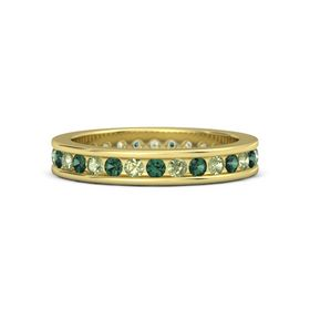 14K Yellow Gold Ring with Peridot and Alexandrite