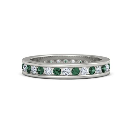 rings white r gold ct band emerald eternity in adiamor cut and bands wedding diamond