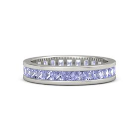 14K White Gold Ring with Tanzanite