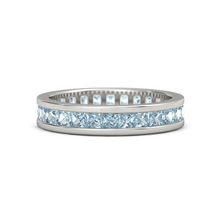 half band eternity silver aquamarine large silverspeck sterling ring products bands
