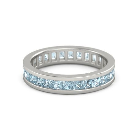 eternity band agnsons rings aquamarine bands