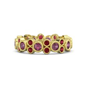 14K Yellow Gold Ring with Rhodolite Garnet & Ruby