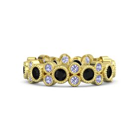 14K Yellow Gold Ring with Black Onyx & Tanzanite