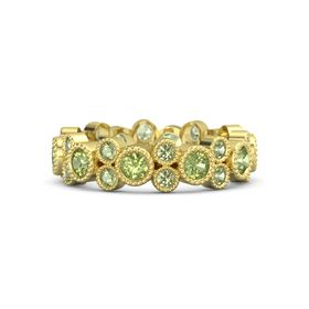 18K Yellow Gold Ring with Peridot