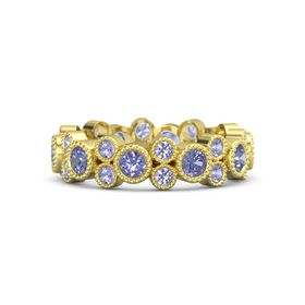 18K Yellow Gold Ring with Tanzanite