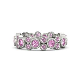Platinum Ring with Pink Sapphire & Pink Tourmaline