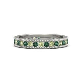 14K White Gold Ring with Alexandrite & Peridot