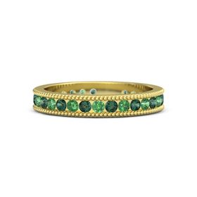 14K Yellow Gold Ring with Alexandrite and Emerald
