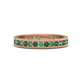 18K Rose Gold Ring with Alexandrite and Emerald