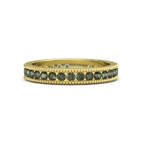 18K Yellow Gold Ring with Green Tourmaline
