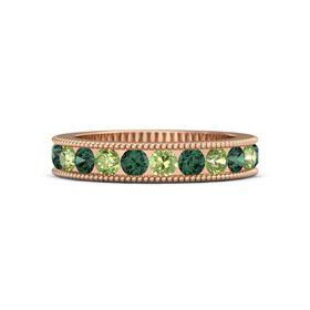 14K Rose Gold Ring with Peridot and Alexandrite