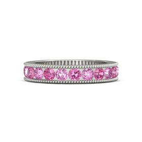 Palladium Ring with Pink Tourmaline and Pink Sapphire