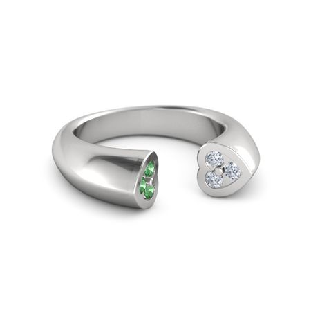 Grand Two Hearts Ring