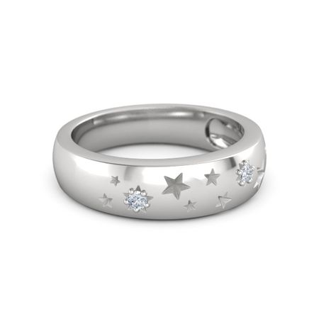 Round Diamond Sterling Silver Ring with Diamond | Written ...