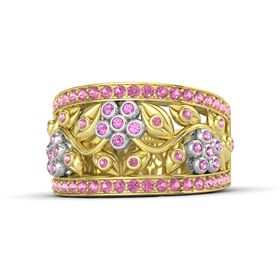14K Yellow Gold Ring with Pink Sapphire & Pink Tourmaline