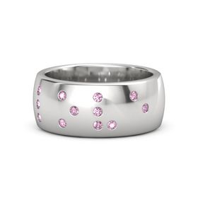 Sterling Silver Ring with Pink Sapphire