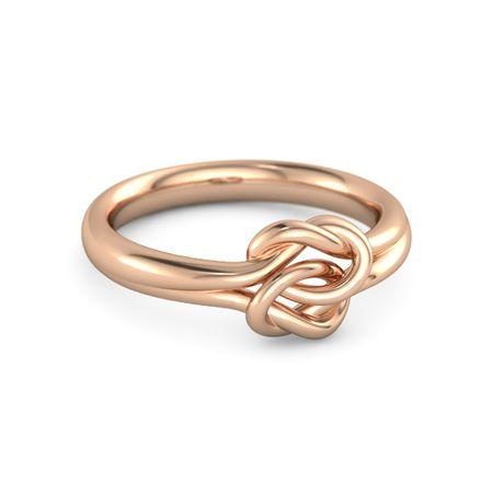 f1bd260357 14K Rose Gold Ring   Plain Lover's Knot Ring   Gemvara