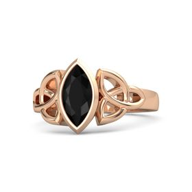 14K Rose Gold Ring with Black Onyx