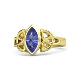 14K Yellow Gold Ring with Tanzanite