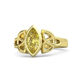 18K Yellow Gold Ring with Yellow Sapphire