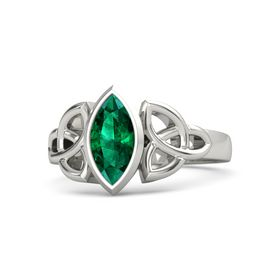 Palladium Ring with Emerald