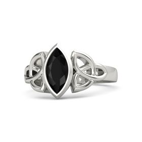 Palladium Ring with Black Onyx
