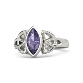 Platinum Ring with Iolite