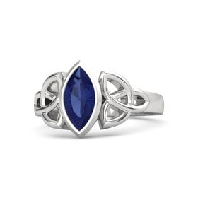 Sterling Silver Ring with Sapphire