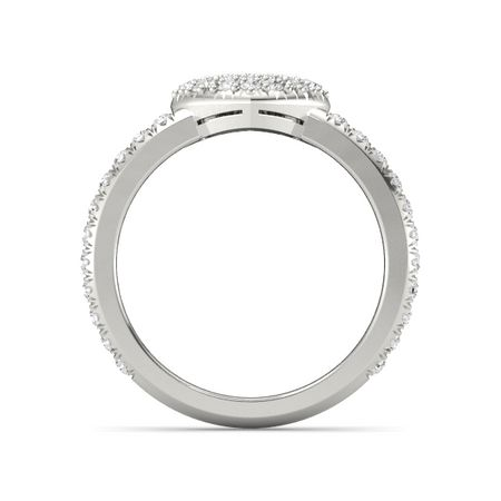 Petite Heart Ring with Pave Band