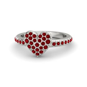Platinum Ring with Ruby