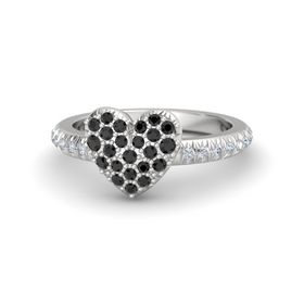 Sterling Silver Ring with Black Diamond & Diamond