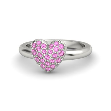 Petite Heart Ring with Metal Band