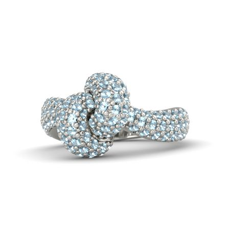 Brilliant Intertwined Knot Ring