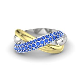 Sterling Silver Ring with Blue Sapphire
