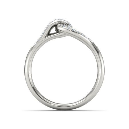 Brilliant Interlocking Knot Ring