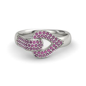 Platinum Ring with Rhodolite Garnet