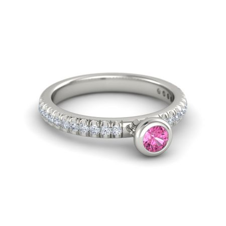 Gemstones By The Yard Pave Stacking Ring (4mm gem)