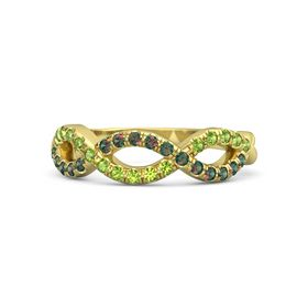 14K Yellow Gold Ring with Alexandrite & Peridot