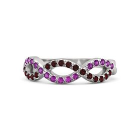 Sterling Silver Ring with Red Garnet & Rhodolite Garnet