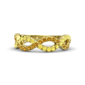 14K Yellow Gold Ring with Yellow Sapphire and Citrine