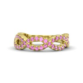 18K Yellow Gold Ring with Pink Sapphire