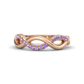 14K Rose Gold Ring with Iolite