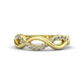 14K Yellow Gold Ring with Rock Crystal