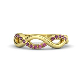 14K Yellow Gold Ring with Rhodolite Garnet