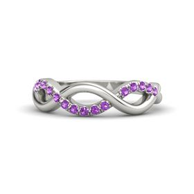 Palladium Ring with Amethyst